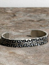 Star studs narrow bangle