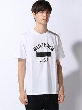 (M)【WILD THINGS】ロゴプリントT