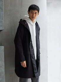 【SALE/50%OFF】koe Men's フードパフコート コエ コート/ジャケット ショートコート ブラック ベージュ カーキ【送料無料】