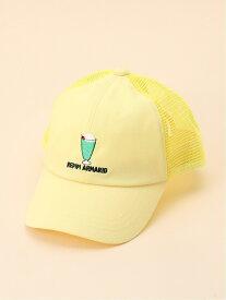 repipi armario ワンポイントメッシュキャップ レピピアルマリオ 帽子/ヘア小物 キャップ イエロー ブラック ブルー ホワイト
