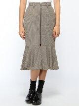 【BROWNY】(L)レトロチェックマーメイドスカート