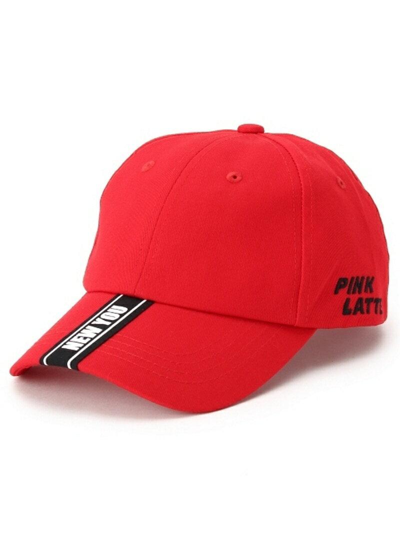 PINK-latte テープロゴ キャップ ピンク ラテ 帽子/ヘア小物