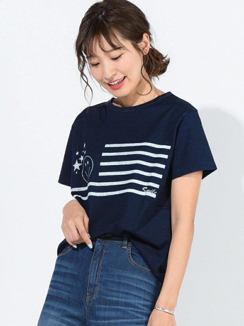 【SALE/30%OFF】MAYSON GREY デニムスマイルプリントTシャツ メイソングレイ カットソー【RBA_S】【RBA_E】