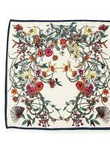 ボタニカルプリントスカーフ