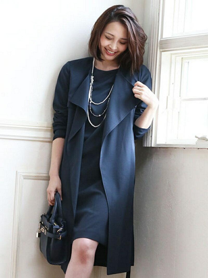 【SALE/37%OFF】Dress Lab Dress Lab/ワンピース付トレンチコートセット クリーム ビジネス/フォーマル【RBA_S】【RBA_E】【送料無料】