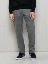 <H>FLANNEL CHALK STRIPE SIDE BELTED PANTS/パンツ ◆