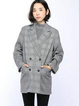 【BROWNY】(L)レトロチェックオーバージャケット