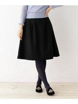 【SS・Lサイズあり】毛混タックフレアスカート