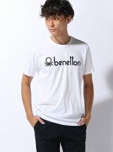 (M)ベネトンロゴ半袖Tシャツ・カットソー
