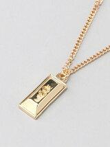 (M)ゴールドバーモチーフネックレス