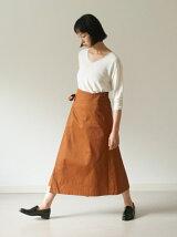 ラップ風ロングスカート
