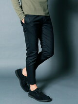 WOOL TROPICAL STRETCH TAPERED CROPPED PANTS