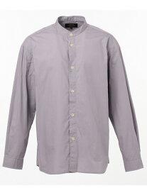 SHARE PARK ウォッシュドバンドカラーシャツ シェアパーク シャツ/ブラウス 長袖シャツ グレー ホワイト ベージュ ネイビー【送料無料】