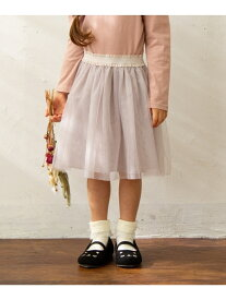 【SALE/30%OFF】any FAM KIDS 【90-130cm】チュールスカート エニィファム スカート スカートその他 ベージュ グリーン パープル