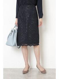 【SALE/20%OFF】NATURAL BEAUTY BASIC スカラレースタイトスカート ナチュラルビューティベーシック スカート スカートその他 ネイビー グレー【送料無料】