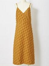フリンジジャガードキャミドレス