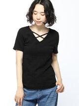 7/14C・ケーブルFクロスV/N半袖/TOPS