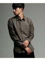 シャンブレーネルシャツ