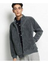 WEB限定 袖スター刺繍 ボアジップスタンドジャケット
