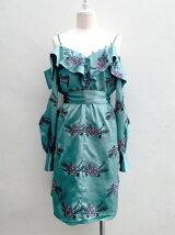 リースエンブロイダリーミニドレス