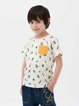 サボテンプリント半袖Tシャツ