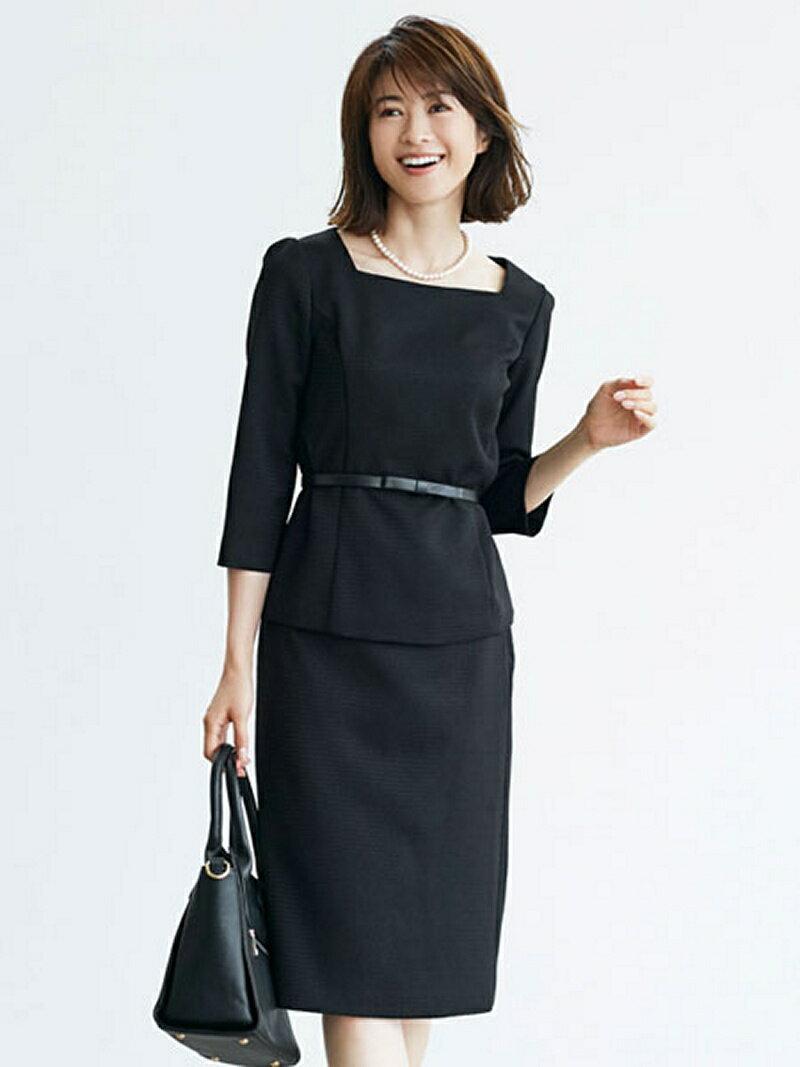 【SALE/43%OFF】Dress Lab Dress Lab/ベルトスクエアネックセットアップ クリーム ビジネス/フォーマル【RBA_S】【RBA_E】【送料無料】