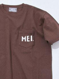 【SALE/50%OFF】coen 【女性にもオススメ】MEI(メイ)別注ポケットTシャツ(一部WEB限定カラー) コーエン カットソー Tシャツ ブラウン ホワイト ブラック ベージュ カーキ ネイビー レッド