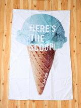 アイスクリームビーチタオル