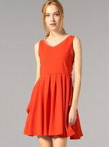 オレンジドレープドレス
