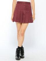 【BROWNY STANDARD】(L)ROSE刺繍プリーツミニスカート