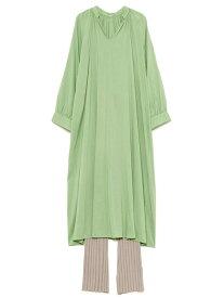 Mila Owen ギャザーデザインシャツ ミラオーウェン シャツ/ブラウス シャツ/ブラウスその他 ブルー ホワイト【送料無料】