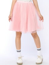 【WEGO】【Dispark】(L)チュールプリーツスカート