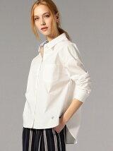 ホワイトオーバーサイズシャツ