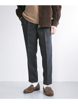 WOOLY CLOTH TUCK PANTS