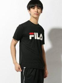 【SALE/20%OFF】FILA (M)PEメッシュ半袖TEE ニッキー カットソー Tシャツ ブラック グレー ネイビー ホワイト