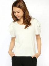 変形スリーブTシャツ