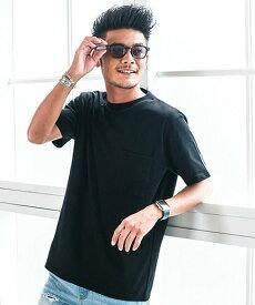 SB select Goodwearヘビーウェイトポケット付きクルーネック半袖Tシャツ シルバーバレット カットソー
