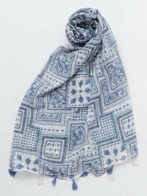 欧州航路 スカーフモチーフストール チャイハネ ファッショングッズ マフラー/スヌード ブルー