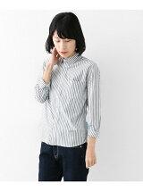 FORK&SPOON ストライプベーシックシャツ
