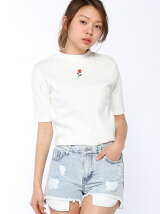 【WC】(L)WEGO/ローズリブハイネックTシャツ