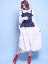 ベルトショルダーシャツドレス