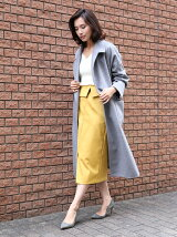 【美しい贅沢カシミヤコレクション】ロングカシミヤラップコート