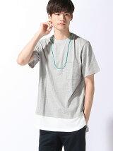 (M)ネックレス付きロングTシャツ