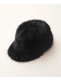 【SALE/40%OFF】Code Kelly 別注ファーCAP ナノユニバース 帽子/ヘア小物 キャップ ブラック