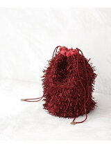 Shaggy drawstring bag