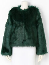 ノーカラー FAUX FUR COAT