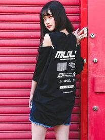 【SALE/10%OFF】ZIDDY ショルダー ファスナー ビッグシルエット Tシャツ(130~160cm) ベベ オンライン ストア カットソー Tシャツ ブラック ブルー グリーン
