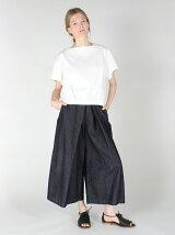 タックデニムスカートパンツ