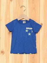 ANAPKIDSかすれプリント星柄ポッケTシャツ