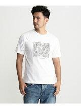 &マークフロッキープリントTシャツ
